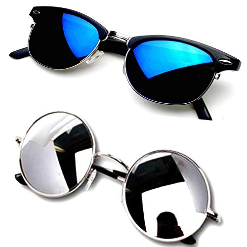 Y&S Wayfarer Unisex Sunglasses -(55 Blue & Silver)
