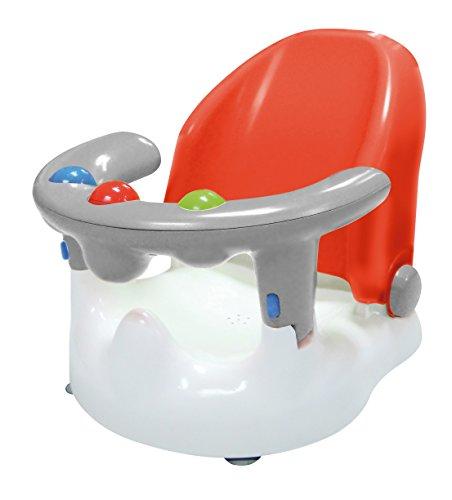 SARO – Baby-Badewannensitz mit verstellbarer Rückenlehne und mehreren Sitzpositionen Mit starken Saugnäpfen, ergonomisch geformter Rückenlehne und Öffnung an der Vorderseite. (rot)