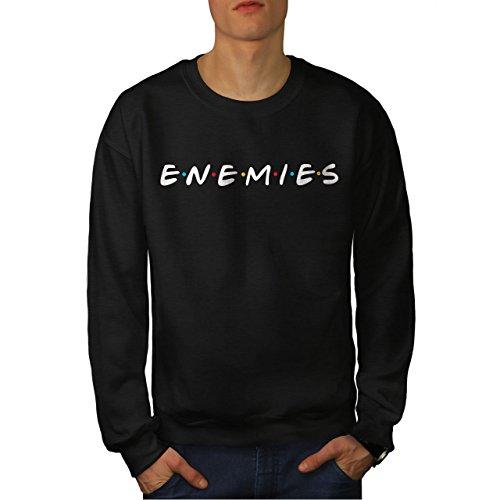 wellcoda Freunde oder Enemies Männer L Sweatshirt