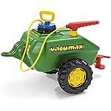 Rolly Toys 122868 rollyVacumax Anhänger, Tanker befüllbar, inkl. Pumpe mit Sptitze und Auslaufhahn, kleiner, stabiler, flexibler Fassanhänger, ab 3 Jahren, Farbe grün