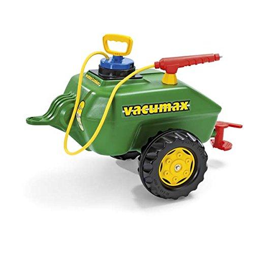 Rolly Toys Anhänger Rolly Toys 122868 rollyVacumax Anhänger, Tanker befüllbar, inkl. Pumpe mit Sptitze und Auslaufhahn, kleiner, stabiler, flexibler Fassanhänger, ab 3 Jahren, Farbe grün