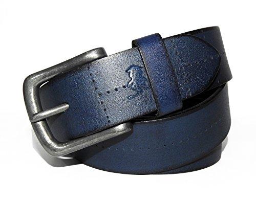 Squid Blue-Blue Matt Finish Leather Belt