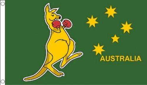 DRAPEAU BOXING KANGOUROU 250x150cm - GRAND DRAPEAU BOXING KANGAROO - AUSTRALIE 150 x 250 cm - AZ FLAG