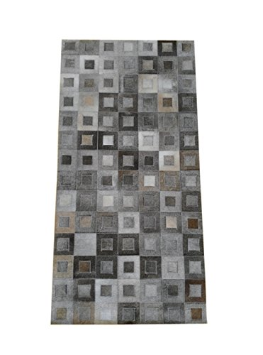 Kuhfell-teppich-Patchwork-stil-Manahmen70x140-cms-Handwerklicher-qualitt-leder-perfekt-fr-jeden-wohnraum