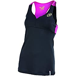 Bullpadel Busy - Camiseta de tirantes para mujer, color negro, talla XL