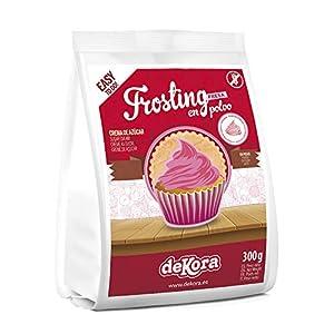 Dekora - Frosting para Tarta de Fresa en Polvo para Adornar Tartas, Bizcochos o Cupcakes - 300 Gr