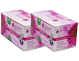 Everteen 100% Natural Cotton Unscented Panty Liners - 2X36 Count 150Mm