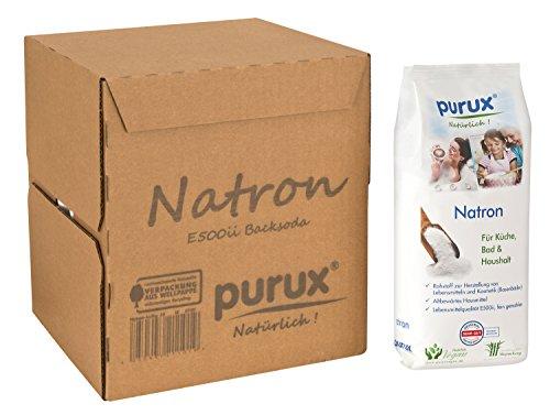 Purux Natron reines Pulver E500 ii Baking Soda Pulver, 3er Pack (3 x 1 kg)