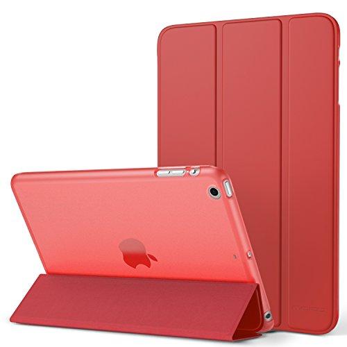 Generation Mini Fällen Ipad 1. (MoKo Hülle für iPad Mini 3 / 2 / 1 - Ultra Slim Lightweight Smart Cover mit Durchschaubar Rückseite Schutzhülle und Auto Schlaf / Wach Funktion für Apple iPad Mini 3 / 2 / 1. Generation, Rot (Nicht für Mini 4))
