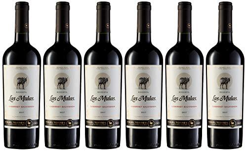 Las Mulas Cabernet Sauvignon, Vino Tinto, 6 botellas de 75 cl - Total: 450 cl