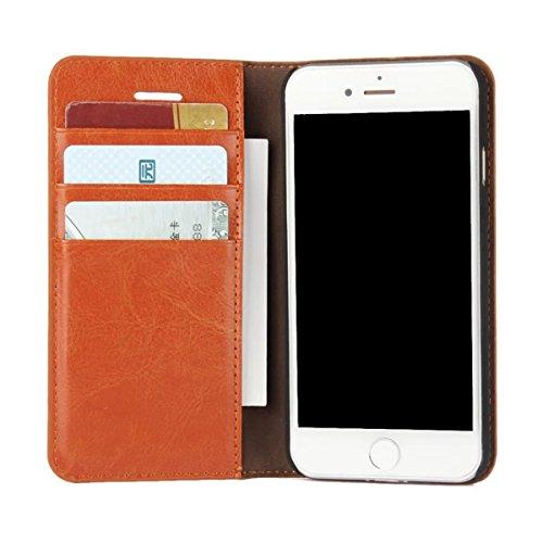 """MOONCASE iPhone 7 Étui, Texture Rétro Zèbre Housse en Cuir à rabat Coque de Protection Folio PC Bookstyle Case avec Porte-cartes Fentes pour iPhone 7 (4.7"""") Brun Brun"""