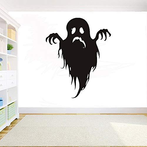 WSYYW Halloween Kreative Ghost Plant Pvc Wandaufkleber Halloween Ghost Tree Wandaufkleber Raumdekoration Vinyl Fensteraufkleber Wandaufkleber Haus Und Garten Weiß 52x42 cm -