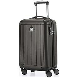 HAUPTSTADTKOFFER - Kotti - Bagage à main cabine Valise Trolley 4 roues- TSA- 56 cm- 37 litres- Graphite