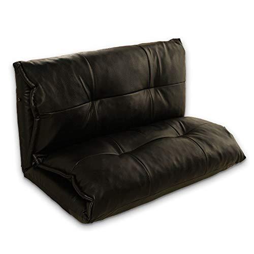 FeliciaWen Lounge Schlafsofa Faltbare, verstellbare Position Bodenliege Sleeper Futon Matratze Sitzstuhl Bay Window Sofas (Farbe : Schwarz, Größe : 100 * 210 * 26cm)