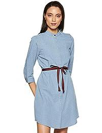Amazon Brand - Inkast Denim Co. Women's Shirt Knee-Long Dress