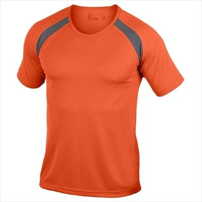 Hanes - Men's Tagless Crew Neck T Contrast Sports 3XL,Orange