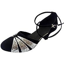 VECDY Zapatos De Baile Rumba Waltz Salsa Latina, Zapatos De Baile Cuadrados De Boca Pezcado