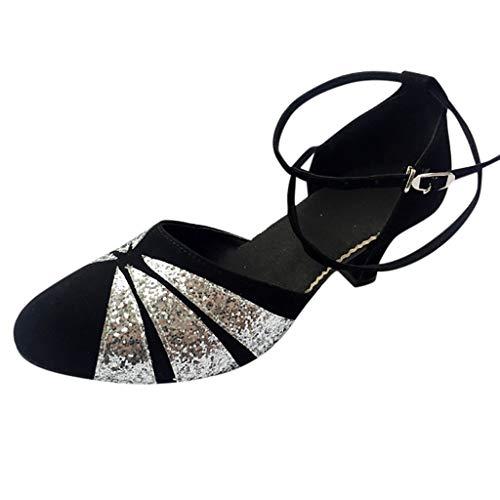 ODRD Sandalen Shoes Lässige Frauen Ballsaal Tango Latin Salsa Tanzschuhe Pailletten Schuhe Social Dance Schuh Schuhe Strandschuhe Freizeitschuhe Turnschuhe ()