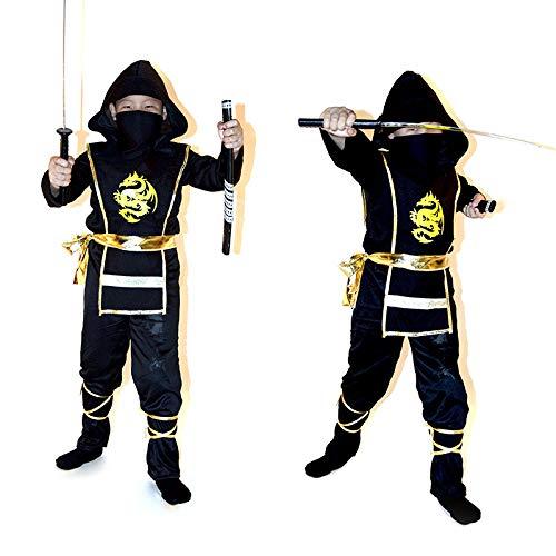 Kostüm Kind Ninja Black - ZSDFGH Kostüm Kinder Ninja/Ninja Turtles Kostim Frau/Karneval Kostüme Kinder/,Black-L