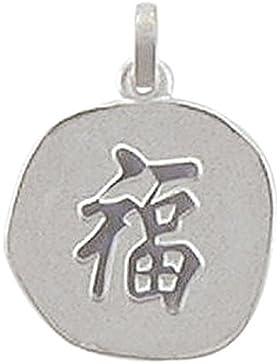 Chinesisches Zeichen Anhänger, Kettenanhänger aus 925 Sterling Silber