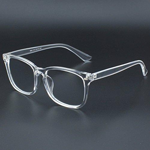 CGID CN82 Lunettes à monture d'écailles et verres transparents UV400 monture audacieuse oversized grosses Transparent