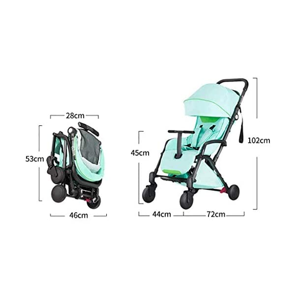 Tao-Miy Lightweight Stroller Buggy, Travel Buggy with Reclinable Backseat Easy Fold Compact Airplane Stroller, (0-36 Months) Tao-Miy ★〖Comfort〗 Multi-range adjustment seat, convenient for your baby's various needs, can sit and recline, height adjustable seat belt, suitable for different heights of the baby. ★〖Safety〗 High-strength load-bearing suspension frame structure, effectively disperse and mitigate vibration; built-in spring shock absorption on the front wheel, freely adjust according to road conditions, reduce vibration. ★〖More convenient〗 The body is made of new lightweight aerospace aluminum alloy, which can be taken on board, high-speed rail and bus. Easily put into the trunk of your car. As soon as you it, you will receive it. 2