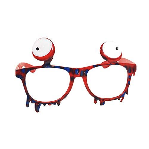 Blutiger Augapfel Kostüm - Amosfun Halloween-Party Brillen Party Brille lustige