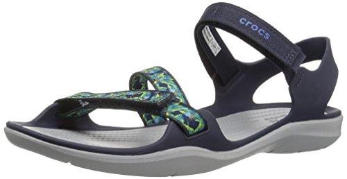 1c182a5521e Crocs Women s Swiftwater Webbing Textile Hook   Loop Sandal ...
