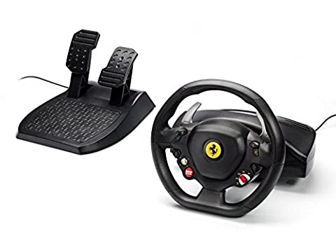 Thrustmaster Ferrari F458 Italia USB Steering Wheel / Wired Driving Controller / For XBOX 360, Windows, Laptop PC Gaming / iCHOOSE