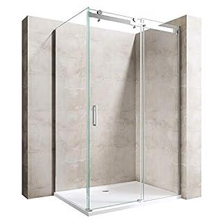 Sogood Duschkabine Ravenna17 90x100x195cm Duschabtrennung mit Schiebetür ESG-Sicherheitsglas Klarglas inkl. beidseitiger Easy-Clean-Beschichtung