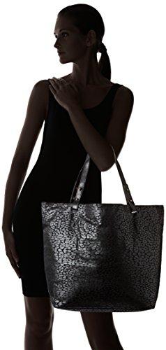 Petite Mendigote - Clea Leopard, Borse a tracolla Donna Nero (Black)