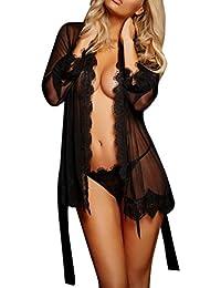 Lenceria mujer+tanga,Morwind ropa interior mujer sexy transparente body picardias lenceria erotica de mujer con abertura combinaciones lenceria ropa de dormir camisón