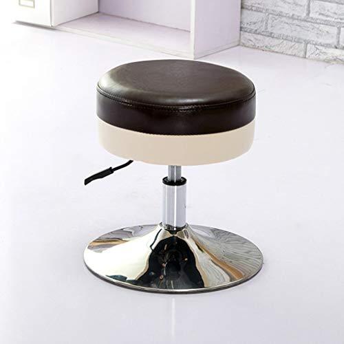 QQXX Fußschemel Fußschemel Oval Stuhl Fußschemel Bürostühle Sofahocker Hocker Runde Lederhocker, Eisen -