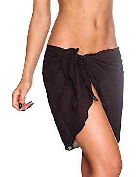 iBaste 2017 neue Damen Sexy modern Einfarbig Strandrock Strandkleider bikinihosen Cover Up