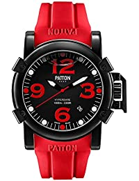 PATTON HYPERBARE Navy - Montre Homme - Rubber - Rouge