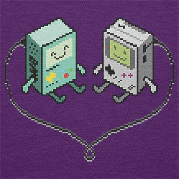 TEXLAB - Handheld Love - Herren T-Shirt Violett