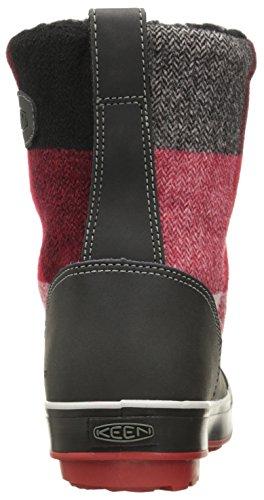 Keen Elsa Boot Wp, Chaussures D'escalade Hautes Pour Femmes Black / Red Dahlia
