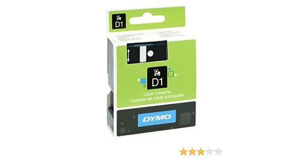 Schwarz auf Weiss 5 19mm Farbband Beschriftungsband Schriftband-Kassette f/ür Label Maker PC10 5mtr. D1 EXTRA Klebstark f/ür DYMO LabelMaker PC 10