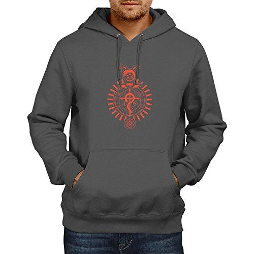 Sam Kostüm Adams - NERDO - Winchester Symbols - Herren Kapuzenpullover, Größe L, grau