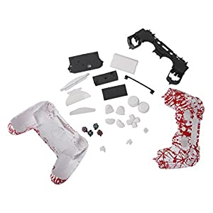 Splash Blut Volle Gehäuseschale Fall-Taste-Kit Für PS-4 Wireless-Controller