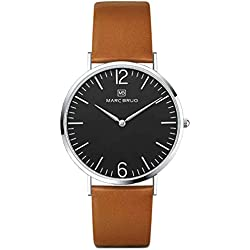 Marc Brüg Men's Minimalist Watch Paddington 41 Black