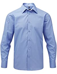 Russell Collection Popeline Herren Hemd, Langarm, pflegeleicht