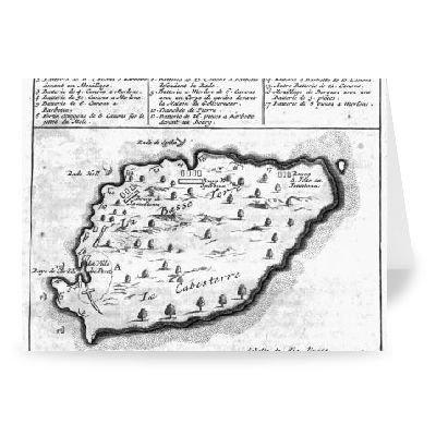 map-of-barbados-engraving-by-french-school-gruaykarten-2er-packung-178x127-cm-standardgraaye-packung