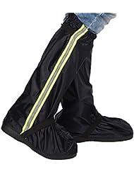 Sunmoch Oxford Tuch Regenüberschuhe Fahrrad Überschuhe Lange Wasserdicht Regen Überschuhe ,Abnutzungsbeständige und Rutschfeste Motorrad Schuhüberzüge vor Nässe, Schnee und Matsch geschützt
