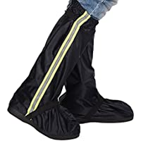 Sunmoch Oxford Protector de Zapatos para Lluvia, bicicleta, cubrezapatos, muy resistente al agua, resistente al desgaste y antideslizante, motocicleta, recubrimiento para zapatos para proteger contra la humedad, nieve y barro, negro