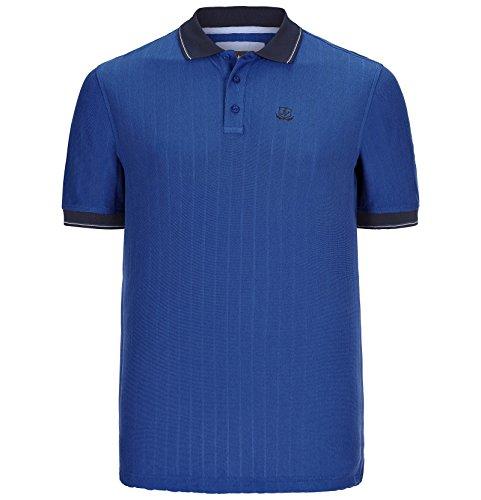 JAN VANDERSTORM Herren Poloshirt ROMUALD in Übergröße | Große Größen | Plus Size | Big Size | XL - 7XL Blau