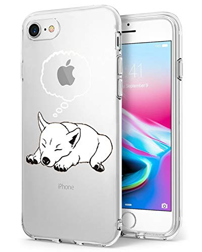 Caler Funda iPhone 7 iPhone 8 Case, Suave TPU Gel Silicona Ultra-Delgado...