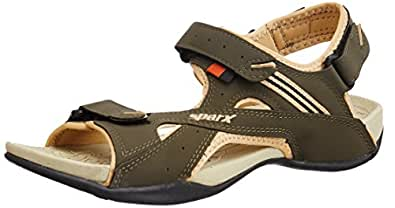 Sparx Women's  Olive and Beige Athletic and Outdoor Sandals - 4 UK/India (36.67 EU) (SS0432L)