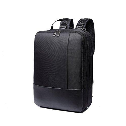 Imagen de  para portátil, 3 en 1 bolsa bandolera/maletin/backpack de hombres para laptop 15.6 pulgada, impermeable netbook dayback para universidad/negocios/trabajo, negro