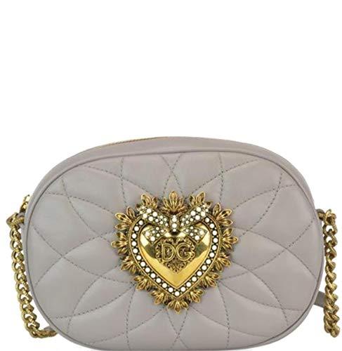 Dolce E Gabbana Borsa A Spalla Donna Bb6704av9678h062 Pelle Grigio